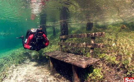 Imagini incredibile! Parcul care se transforma in lac
