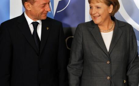 Angela Merkel s-a intalnit cu Traian Basescu la Palatul Cotroceni