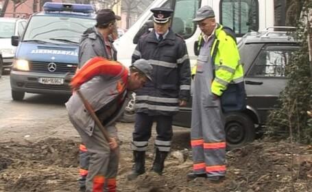 Scurgeri mari de gaz la Sibiu. O masina a intrat intr-o conducta