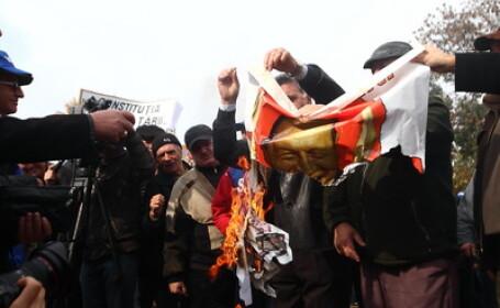 Protestul cadrelor militare la Cotroceni