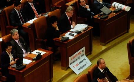 Opozitia isi face datoria. Inca o motiune de cenzura pe Legea salarizarii