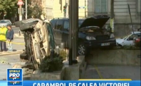 O masina a SPP, rasturnata de un spaniol grabit. O femeie a fost ranita grav
