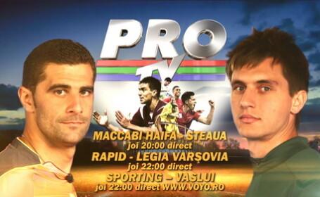 LIVE pe Voyo.ro. Maccabi Haifa - Steaua Bucuresti 5-0, 22:00 Sporting Lisabona - FC Vaslui