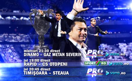 Adio, griji! Bun-venit fotbal! Optimile Cupei Romaniei - LIVE VIDEO pe voyo.ro