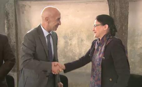 Ecaterina Andronescu si Philippe Gustin, ambasador Franta