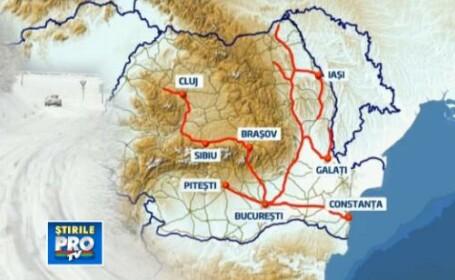 harta drumuri blocate, zapada