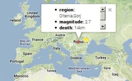 Cutremur cu magnitudinea de 2,7 produs vineri dimineata in Oltenia