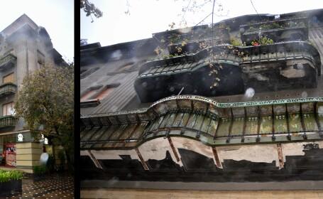 Balcoanele cladirilor din Piata Operei, adevarat pericol pentru pietoni.Cine reabiliteaza imobilele