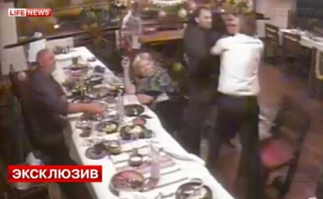 Bataie generala la o nunta, dupa ce unul din invitati este atacat cu cutitul. VIDEO