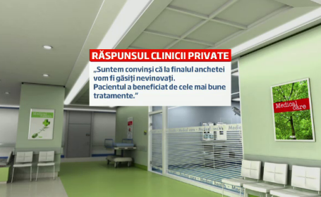 Familia marelui fotbalist Lica Nunweiller acuza o clinica privata de malpraxis.\