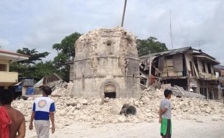 CUTREMUR cu magnitudinea de 7,2 grade in Filipine. Cel putin 73 de persoane au murit. VIDEO