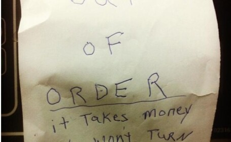 Mesajul amuzant scris de un barbat, cand afla ca masina de spalat rufe este stricata