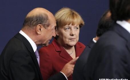 Traian Basescu, Angela Merkel