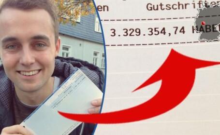 Tanarul din Germania care timp de 3 minute a fost mai bogat cu 3 milioane de euro