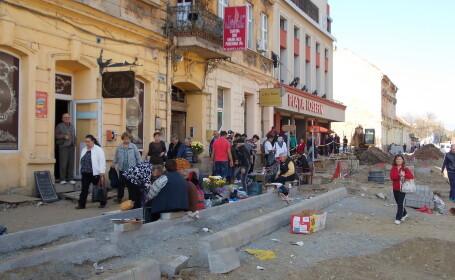 Zona Iosefin, ca in Evul Mediu. Lucrarile la strada Iancu Vacarescu se prelungesc cu patru luni.FOTO