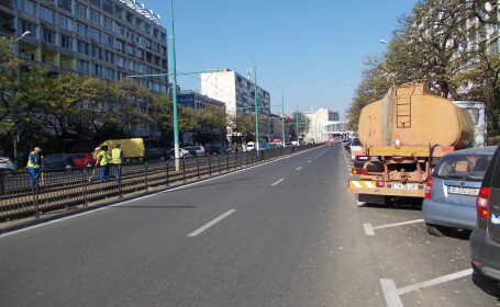 Bulevardul Ion Dragalina, reabilitat si redat in totalitate circulatiei. Carosabilul a fost largit