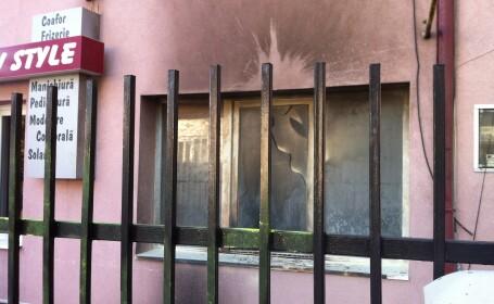 salon coafura incendiat