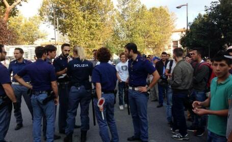 O rafuiala violenta intre doua grupuri de romi de origine romana a inspaimantat trecatorii si a blocat traficul in Florenta
