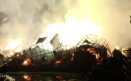 incendiu la un depozit de deseuri de magneziu langa Rasnov