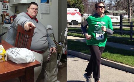 Un barbat din SUA a reusit sa slabeasca 171 de kilograme prin alergare. Cat de bine arata acum