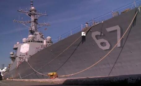 USS Cole, renumitul distrugator american care in 2000 a fost atacat de teroristii Al-Qaeda, a ajuns in portul Constanta