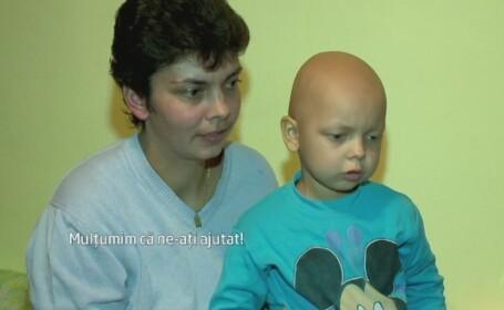 Craciunul a venit mai devreme pentru baiatul de 5 ani din Constanta cu tumoare pe creier. Zeci de oameni i-au sarit in ajutor
