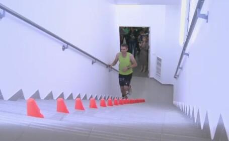 Maratonistul roman Gabriel Solomon vrea sa doboare recordul mondial la alergare verticala. Va urca 34 de etaje de 160 de ori