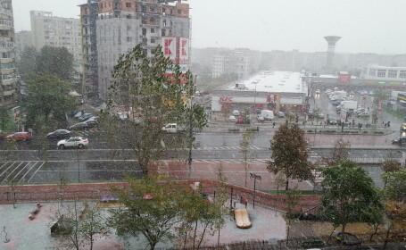 GALERIE FOTO cu prima ninsoare din acest sezon in Bucuresti. Mai multe zone au fost acoperite de zapada