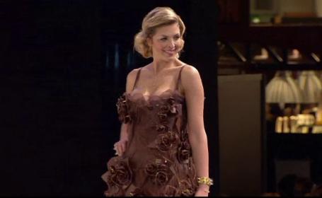 Parada de moda inedita la Salonul Ciocolatei de la Paris. Rochiile elegante si savuroase in care au defilat manechinele