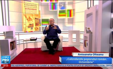 Dan C. Mihailescu, imagine din emisiune, 1 octombrie