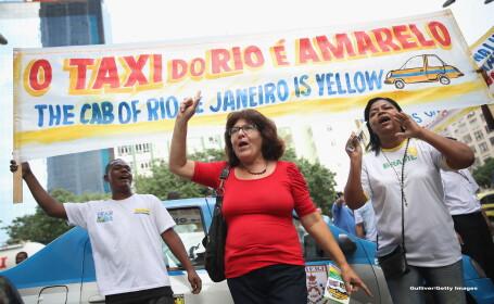 Rio de Janeiro este primul oras din Brazilia care a interzis serviciile de taximetrie Uber. \