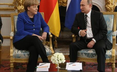 Vladimir Putin si Angela Merkel au discutat la telefon. Decizia luata de cei doi lideri in privinta Ucrainei