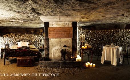 catacombe Paris noapte romantica