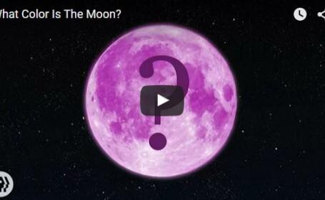 VIDEO Ce culoare are Luna?