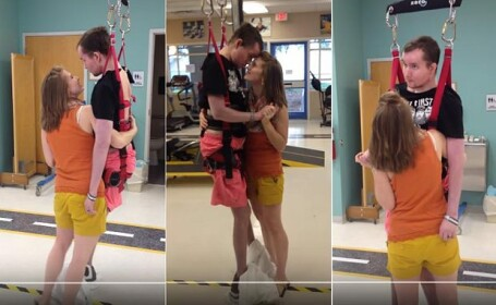 Sase ani dupa accidentul care l-a decapitat intern si l-a lasat paralizat, un barbat a reusit sa danseze cu sotia lui: VIDEO