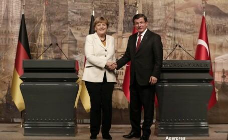 Angela Merkel si premierul turc