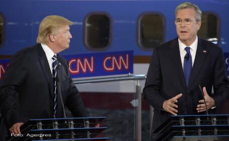Alegeri SUA 2016. Schimb de replici dure intre republicanii Jeb Bush si Donald Trump pe tema atacurilor de la 11 septembrie