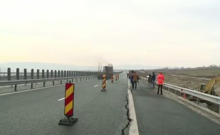 Neregulile sesizate de corpul de control al Ministerului Transporturilor la autostrada Orastie-Sibiu. \