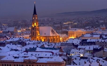 ninsoare in Cluj