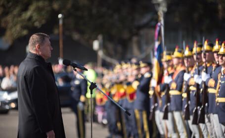 Klaus Iohannis la Paulis, cu prilejul ZIlei Armatei