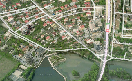 captura bing maps zona Baneasa, proprietatile Grivco