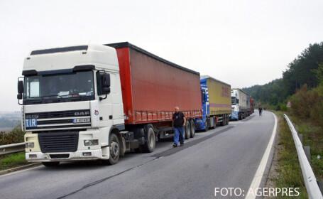 camioane la granita bulgara
