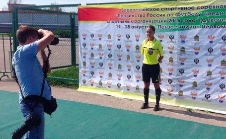 In viata de zi cu zi este arbitru de fotbal, dar pe Instagram pozeaza ca un model. Cum arata rusoaica de 21 de ani