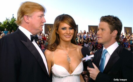 Donald si Melania Trump, alaturi de Billy Bush