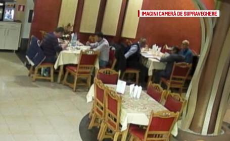 Jefuit de 4.000 de lei in timp ce lua masa la restaurant. Totul a fost filmat, dar politia nu i-a prins pe hoti