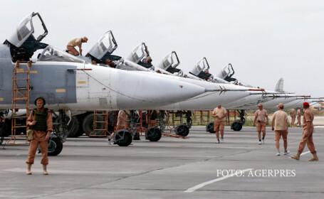 avioane rusesti in Siria, la baza din Hmeimim