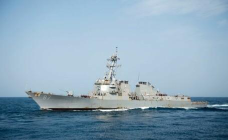Trei nave militare americane ar fi fost tinta unor tiruri de rachete, in Marea Rosie. \