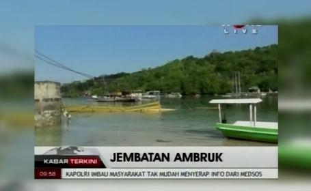 Tragedie in Bali, dupa ce un pod care lega doua insule, s-a prabusit. 9 oameni au murit si alti 30 au fost raniti