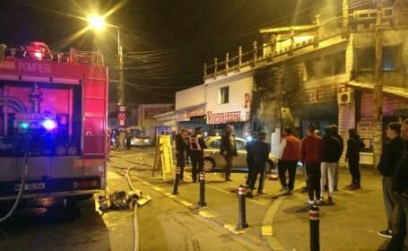 Incendiu in zona Aparatorii Patriei din Capitala. Un service auto a fost cuprins de flacari