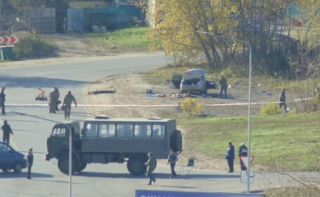 Operatiune antiterorista in Rusia. Doi suspecti au fost ucisi in plina strada